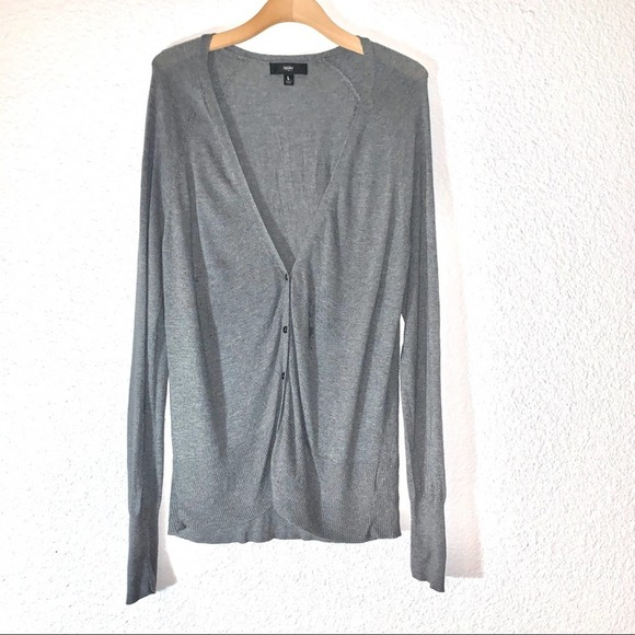 $ Mossimo Cardigan Sweater Gray Button Up V-neck L